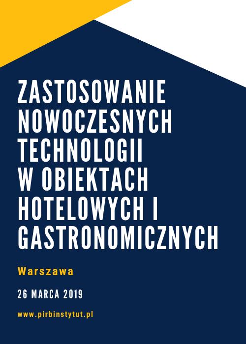 Konferencja Nowoczesne Technologie w Hotelarstwie i Gastronomii